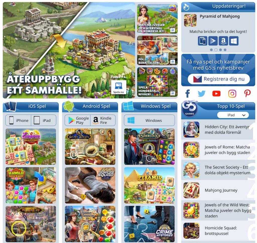 G5 Entertainment Spel