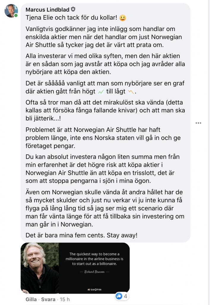 Ska man köpa Norwegian Aktier?