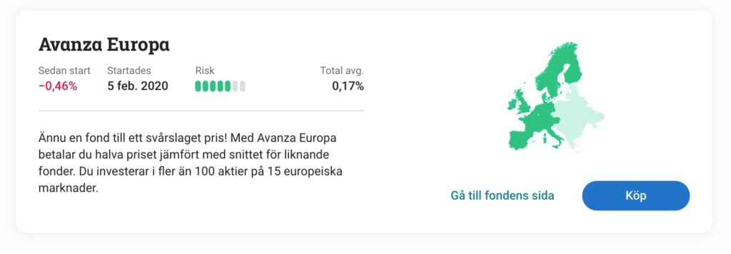 Indexfond Avanza Europa